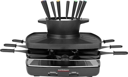 Gastroback Raclette-Fondue-Set family and friends 42567