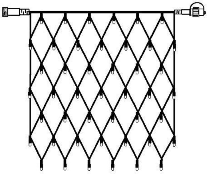 Scharnberger+Hasenbein LED-Lichtnetz 1x1m 42LED warmweiß 88732