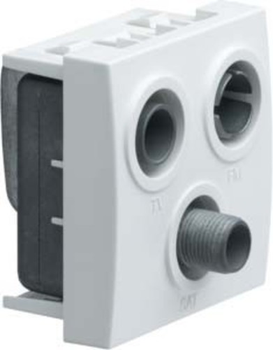 Tehalit Antennensteckdose 3-f. als Enddose WS256