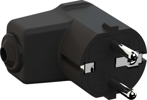 Bachmann Montage-Winkelstecker 2p+Schutzkontakt schwarz 960.102