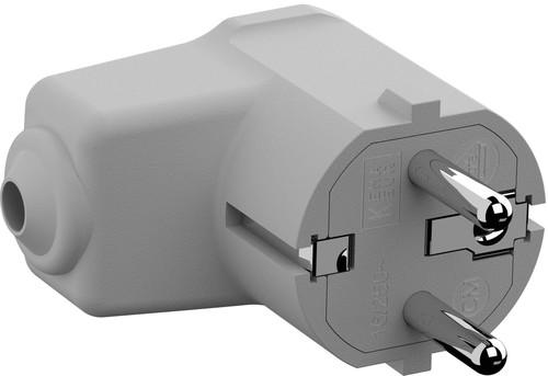 Bachmann Montage-Winkelstecker 2p+Schutzkontakt weiß 960.202