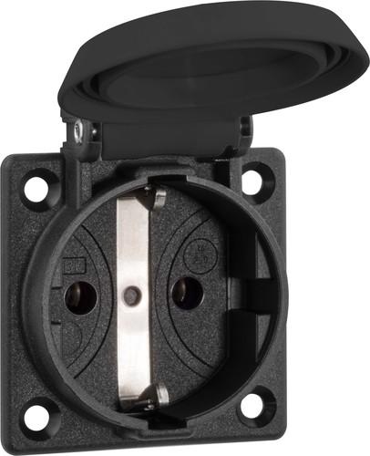 ABL Sursum Schuko-Einbausteckdose Thermoplast IP54 schwarz 1661000