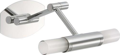 Briloner LED Bad-Wandleuchte chrom, Glas 2203-028