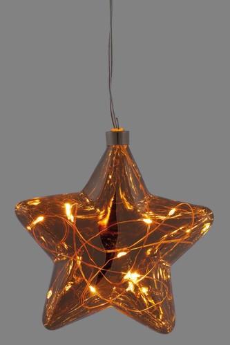 Hellum LED-Glas-Stern mit LED-Lichterkette 524727