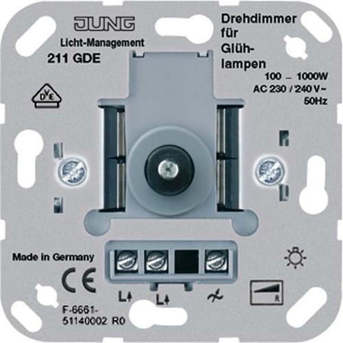 Jung Drehdimmer mit Druckschalter 211 GDE