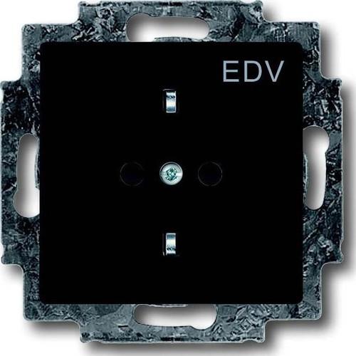 Busch-Jaeger Schuko-Steckdose anthrazit mit Aufdruck EDV 20 EUCKS/DV-81