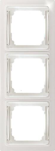 Eltako Flachrahmen 4-fach rws/glänz RF4E-wg