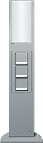 Gira Energiesäule aluminium +Leuchte+Geräte 134226