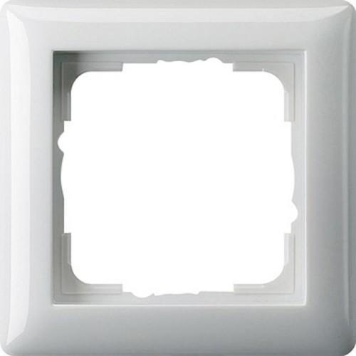 Gira Abdeckrahmen 1-fach reinweiß-glänzend bruchsicher 021103