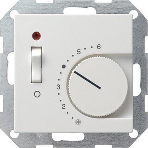 Gira Raumthermostat reinweiß Ein/Aus, System55 039227