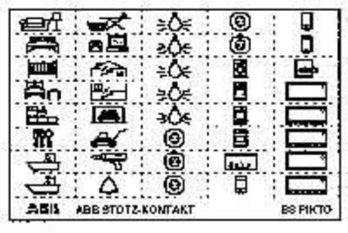 ABB Stotz S&J Kennzeichnungsschild mit Piktogramm BS-PIKTO