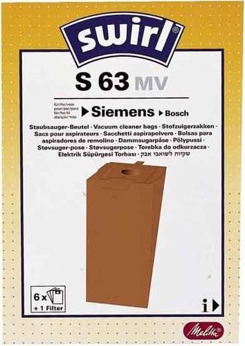 Melitta SDA Staubbeutel für Siemens/Bosch S 63 (VE6)