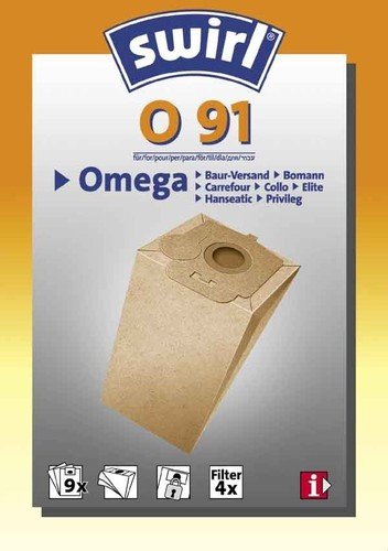 Melitta SDA Staubbeutel für Omega O 91 (VE9)