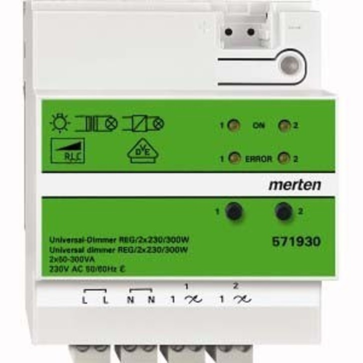 Merten Universal-Dimmer REG/2x230V/300W 571930