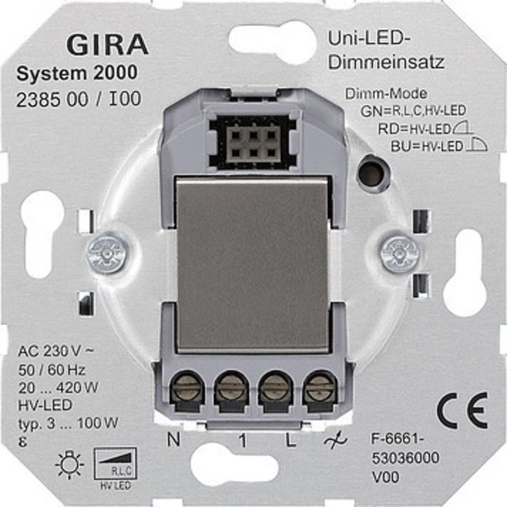 Gira LED-Univers.-Dimmereinsatz System2000 238500