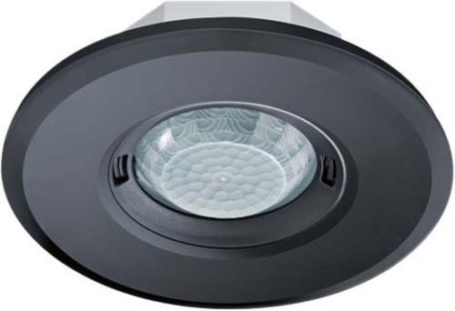 ESYLUX Design-Präsenzmelder rund schwarz PD-FLAT360i/8RB DALI