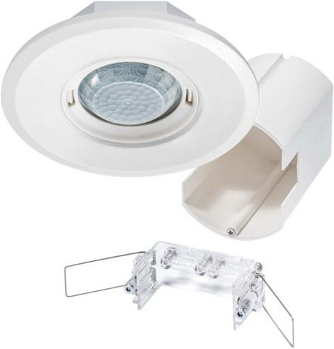 ESYLUX Design-Präsenzmelder rund weiß PD-FLAT360i/8RW DALI