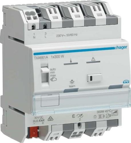 Hager Dimmer KNX easy, 1 K. 300W TXA661A