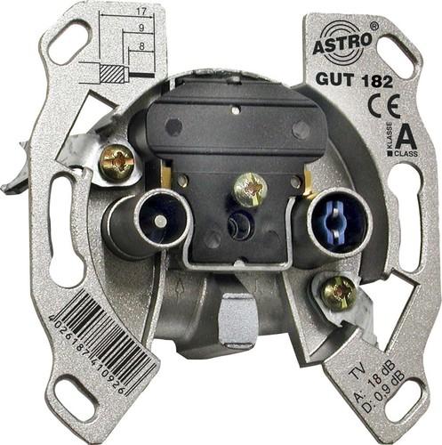 Astro Strobel Antennensteckdose 2-Loch Durchgangsdo. GUT 182