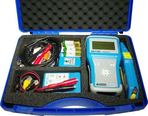 Kurth Electronic KE7100 LAN Tester Set mit KE701 Leitungss. KE 7107