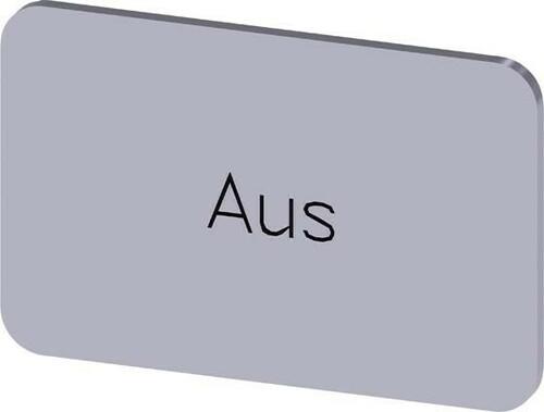 Siemens Indus.Sector Bezeichnungsschild Beschriftung: Aus 3SU1900-0AD81-0AC0