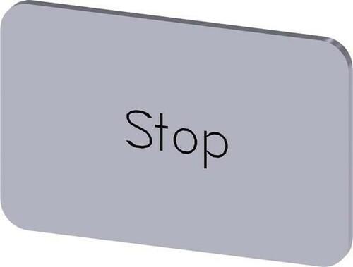 Siemens Indus.Sector Bezeichnungsschild Beschriftung: Stop 3SU1900-0AD81-0DS0