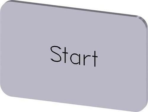 Siemens Indus.Sector Bezeichnungsschild Beschriftung: Start 3SU1900-0AD81-0DT0