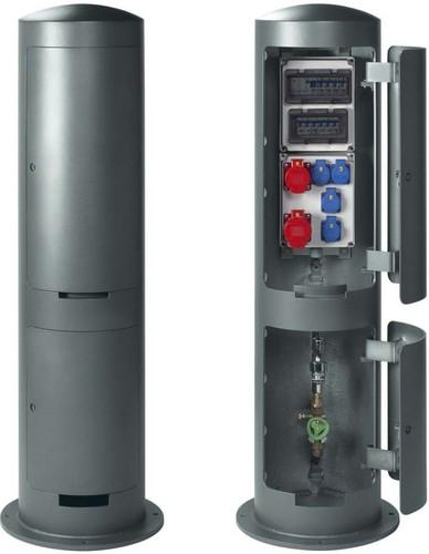 Leipziger Leuchten Elektroversorgungspoller 4xSCHUKO 250V/16A 9.946.0999314SC16C32