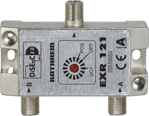 Kathrein DiSEqC-Umschaltmatrix 2 auf 1 F-Anschlüsse EXR 121