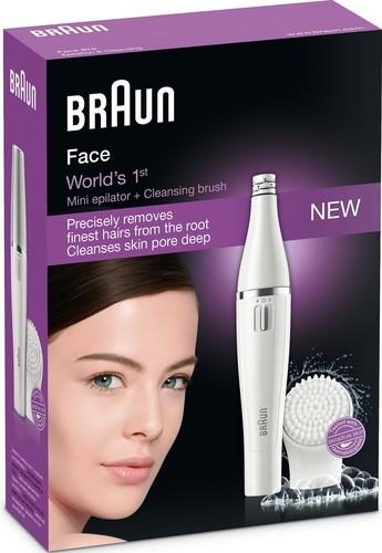 Procter&Gamble Braun Epilierer/Peeling Gesichtsreinigung Face 810 weiß/si