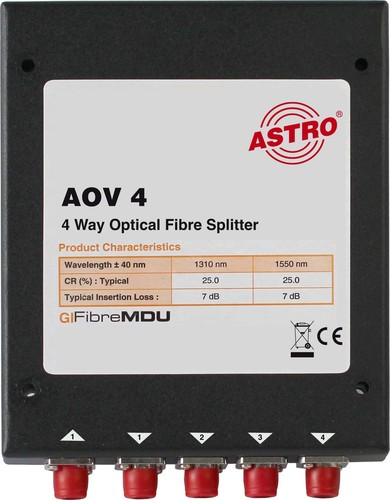 Astro Strobel Splitter 4-fach, optisch AOV 4