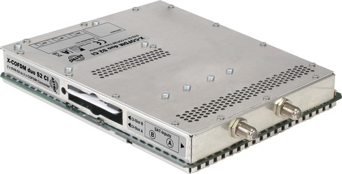 Astro Strobel Steckkarte m. CI-Slot 2-fach DVB-S2/COFDM X-COFDM duo S2 CI
