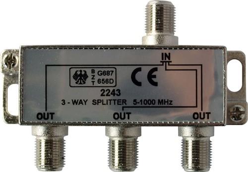Kreiling Tech. Verteiler 3-fach 5-1000MHz Class A VT 2243