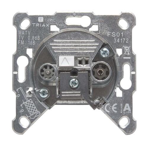 Triax Hirschmann BK-Einzeldose 2-fach FS 01