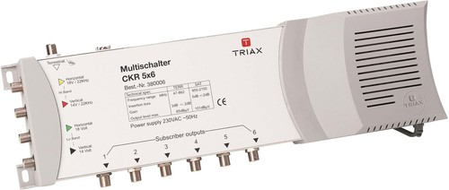 Triax Hirschmann Multischalter 4SAT+1terr.Eing.8f. CKR 5x8