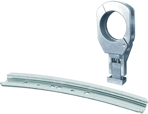 Triax Hirschmann Alu-Schiene 17 cm f. 2 LNB 1xAlu-Feedhalter40mm MFU - 1 Set slim