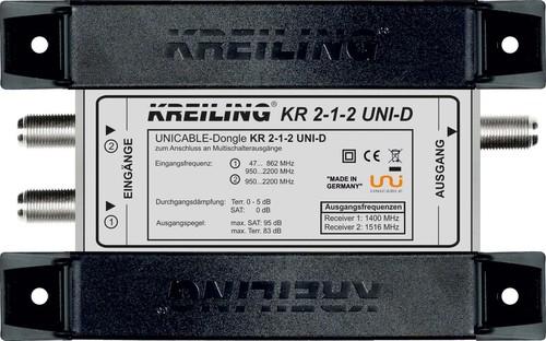 Kreiling Tech. Unicable Dongle z.Anschl. an Multischalteraus. KR 2-1-2 UNI-D