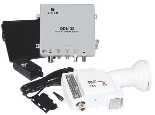 Triax Hirschmann Optisches Empfangssystem TWL01,ODU32,N-Kabel TOU 232 Kit