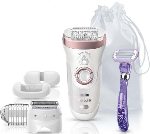 Procter&Gamble Braun Epilierer Silk-epil9 9-870 SensoS rose/go