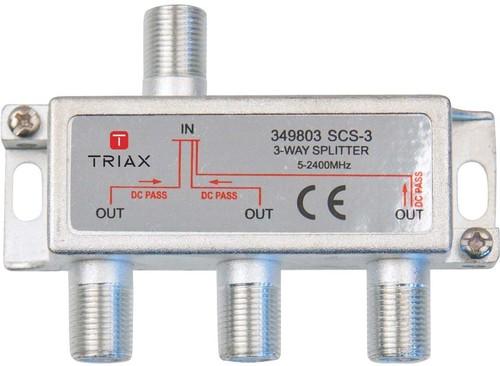 Triax Hirschmann Verteiler 3-fach 9,7 dB, A-Klasse SCS 3 #349803