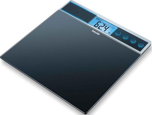 Beurer Glaswaage,sprechend 100gEinteilung,150kg GS 39