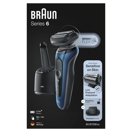 Procter&Gamble Braun Rasierer Series6 S6 60-B7200cc sw/bl