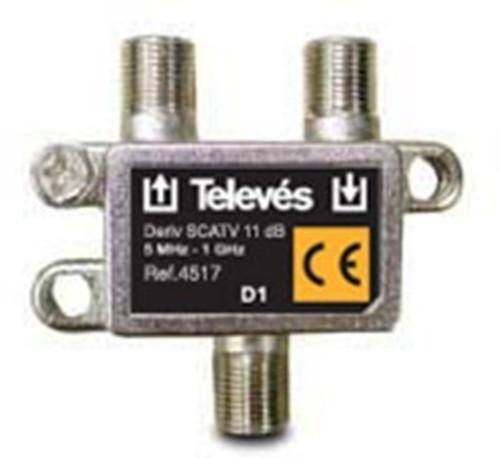 Televes Abzweiger 1-fach 11dB, 5-1218 MHz AZ111