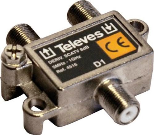 Televes Abzweiger 1-fach 8dB, 5-1218 MHz AZ18