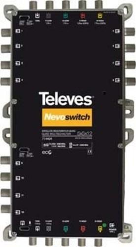 Televes Multischalter 5 in 12 Guß NEVO m.NT quad kask. MS512NCQ
