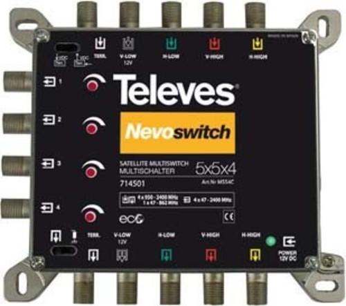 Televes Multischalter 5 in 4 Guß NEVO recpower kask. MS54C