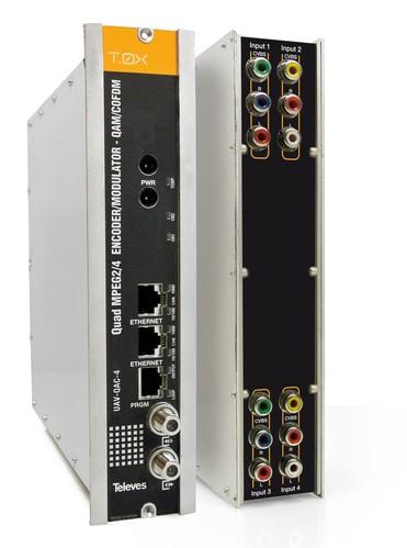 Televes T0X-QUAD-Modulator 4xAV in QAM/COFDM UAV-QAC-4