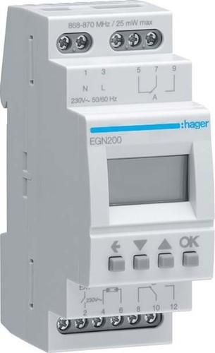 Hager Digit.Multi-Zeitschaltuhr m.Bluetooth 2-Kanal EGN200