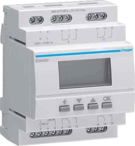 Hager Digit.Multi-Zeitschaltuhr m.Bluetooth 4-Kanal EGN400