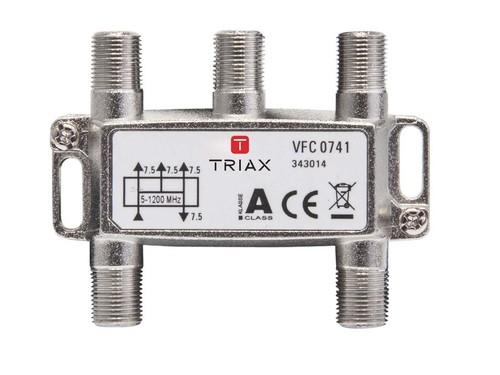 Triax Hirschmann Verteiler 4-fach 7,5dB VFC 0741 1,2 GHz